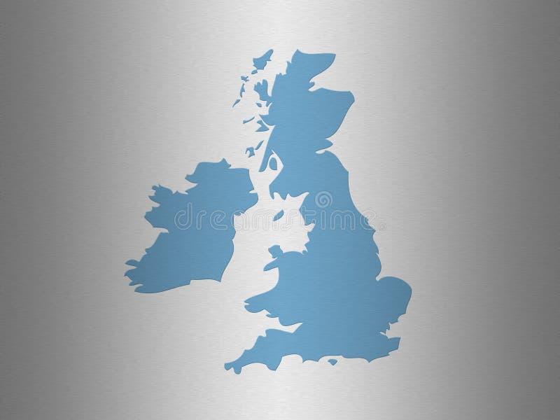 映射分级显示英国 向量例证