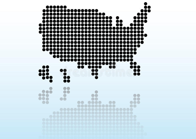 映射反映美国 向量例证