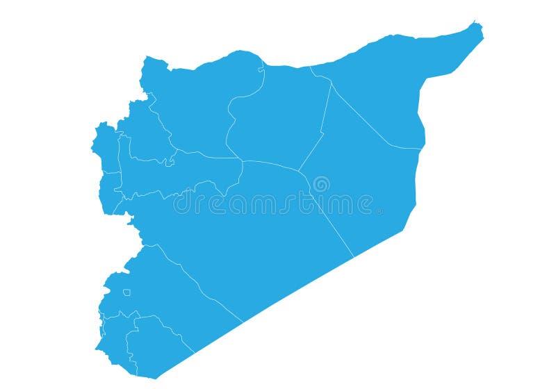 高详细的传染媒介地图-叙利亚图片