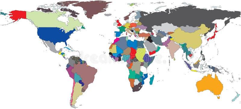 映射地区世界 皇族释放例证