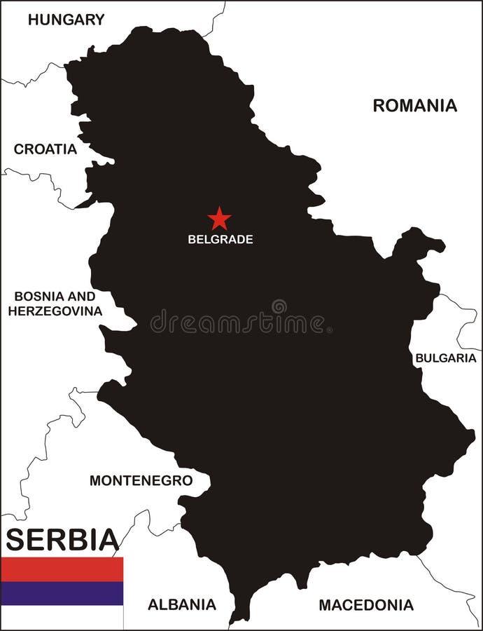 映射塞尔维亚 皇族释放例证
