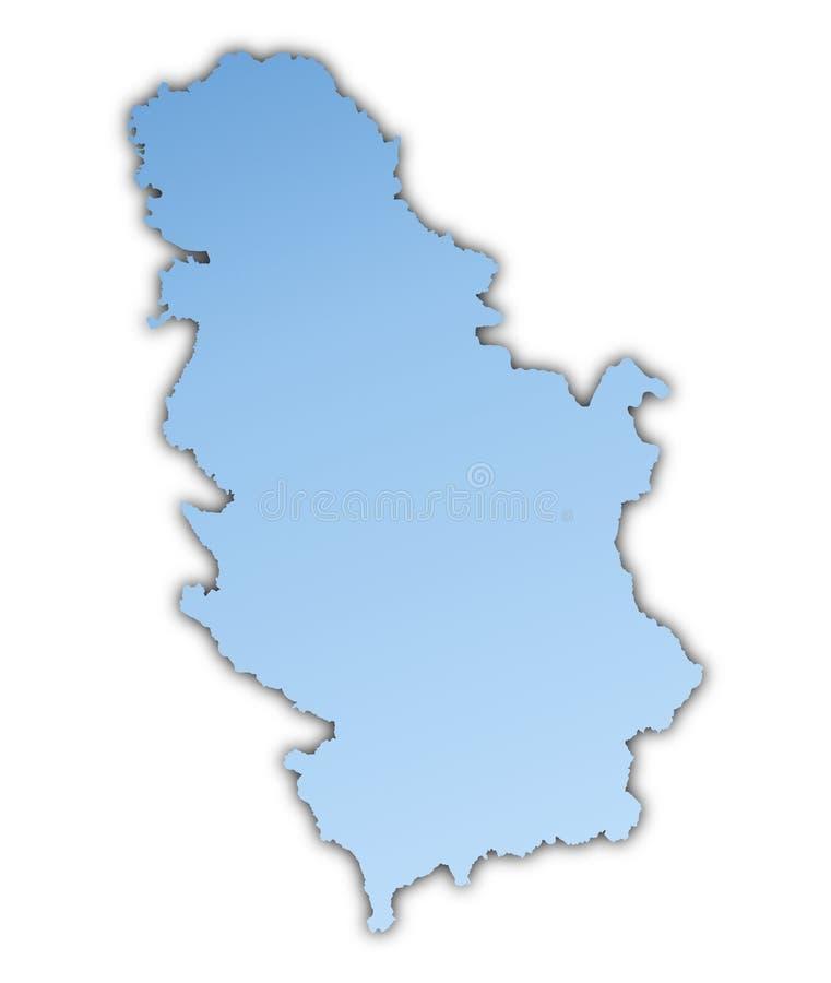 映射塞尔维亚 库存例证