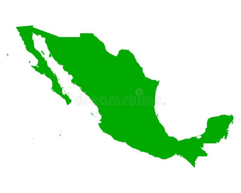 映射墨西哥 向量例证