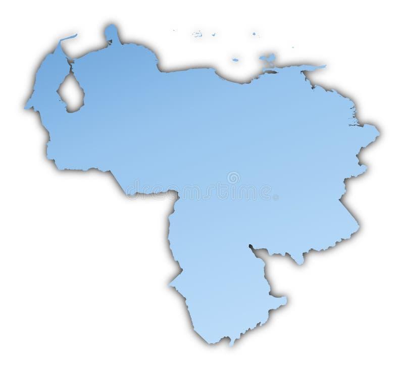 映射委内瑞拉 向量例证