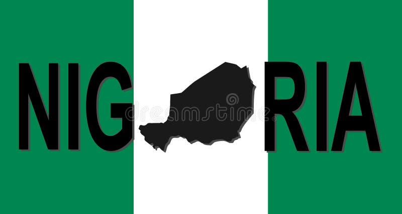 映射尼日利亚文本 向量例证