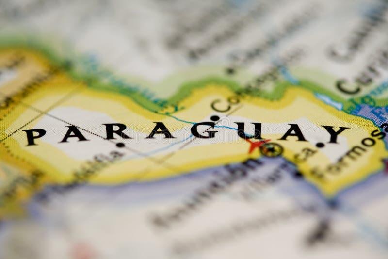 映射巴拉圭 免版税库存照片