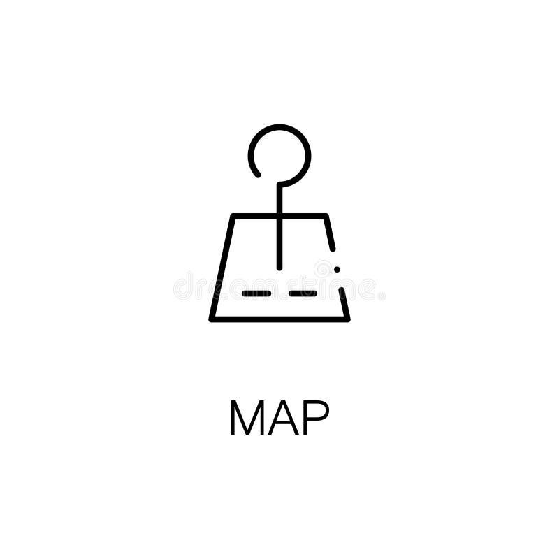 映射平的象或商标网络设计的 库存例证