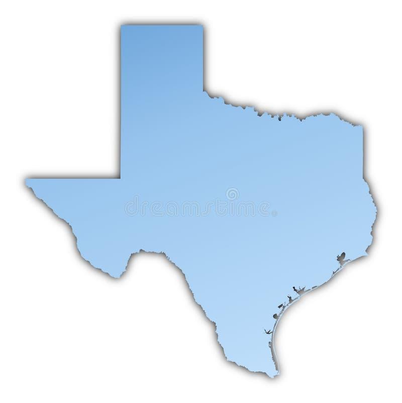 映射得克萨斯美国 库存例证