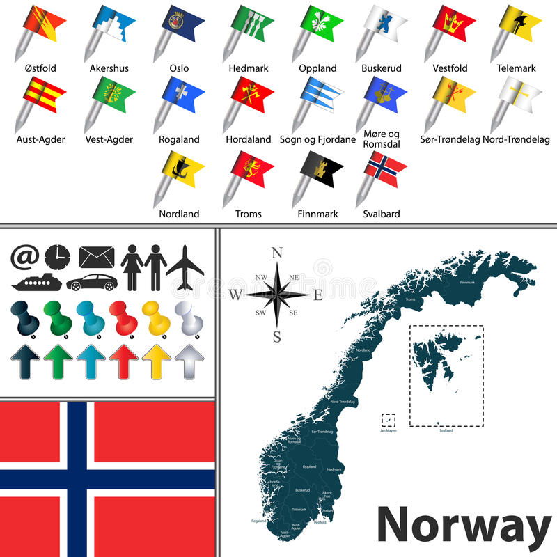 映射挪威 向量例证