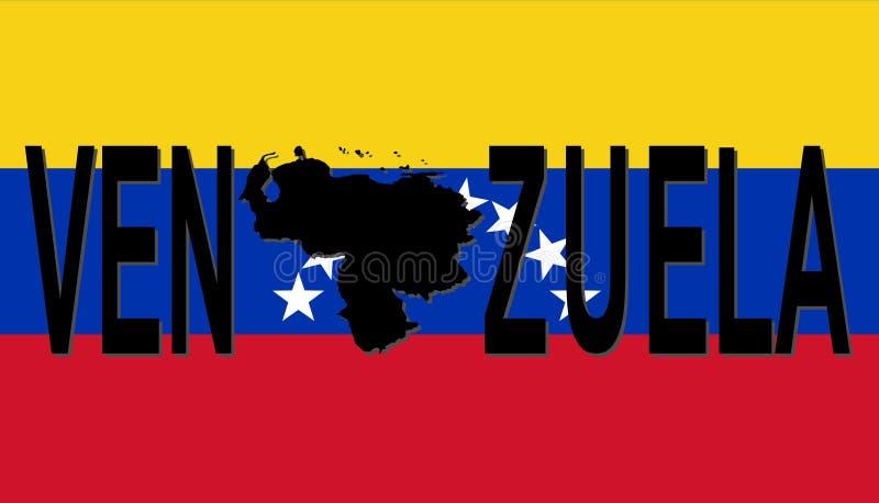 映射文本委内瑞拉 向量例证