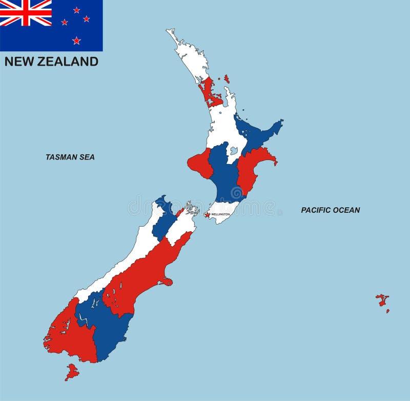 映射新西兰 皇族释放例证