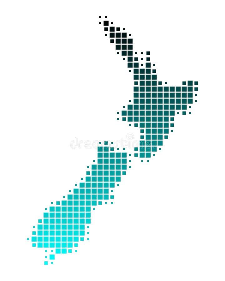 映射新西兰 库存例证