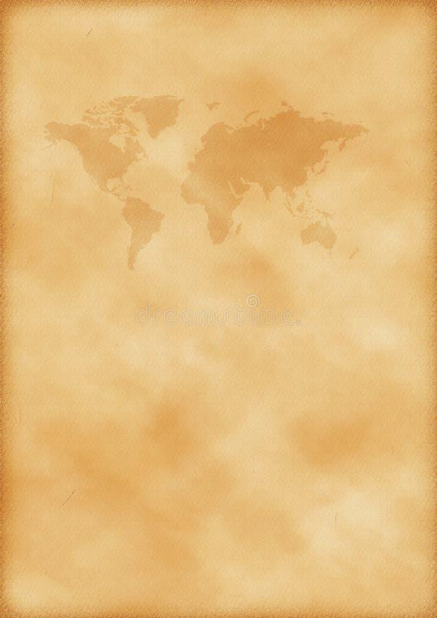 映射旧世界 库存照片