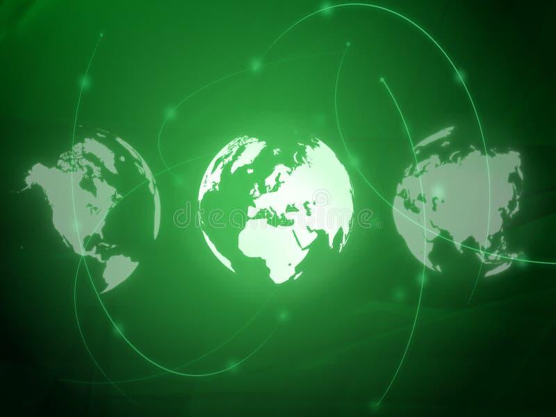 映射样式技术世界 向量例证