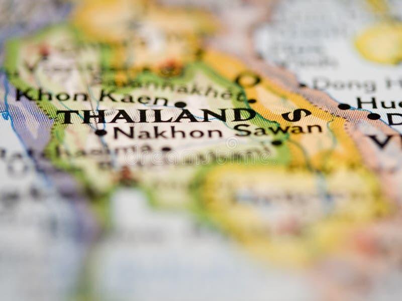 映射泰国 免版税库存图片