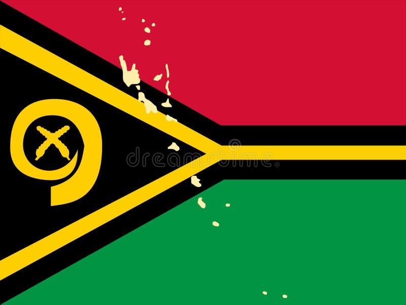 映射瓦努阿图 皇族释放例证