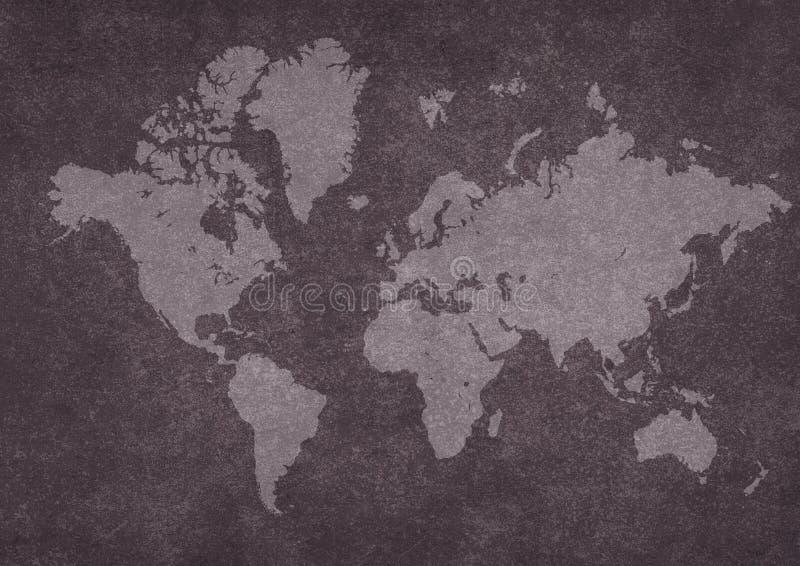 映射生锈的世界 库存图片