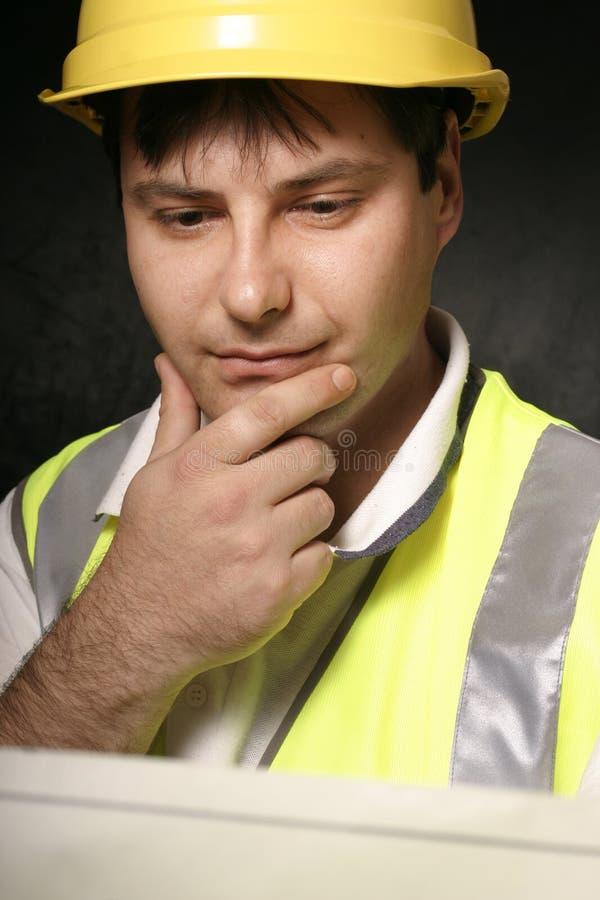 映射矿工读取 免版税图库摄影