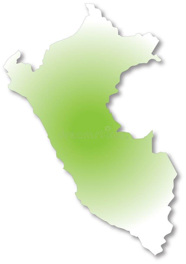 映射秘鲁 皇族释放例证