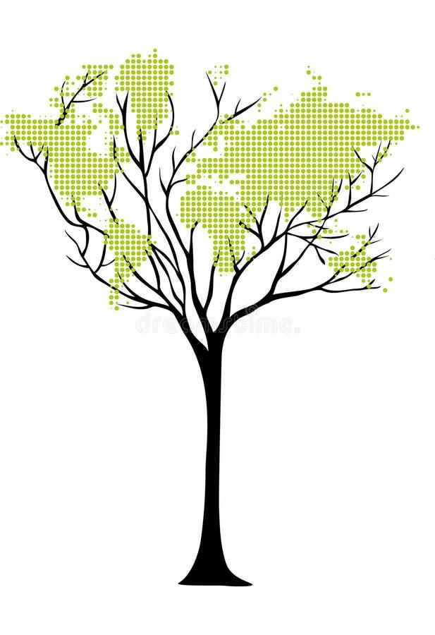 映射结构树世界 皇族释放例证