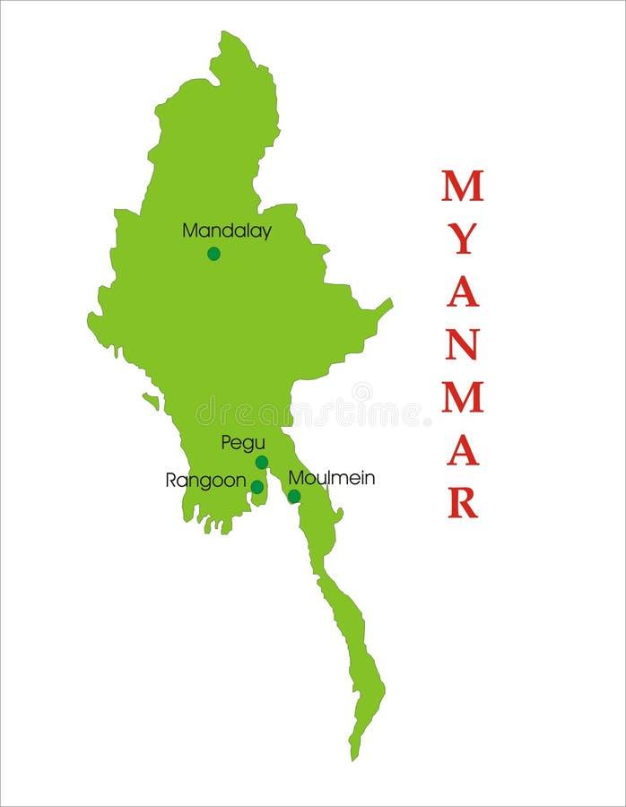 映射缅甸 向量例证