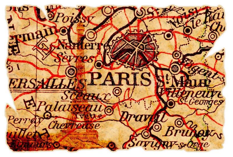 映射老巴黎 库存图片