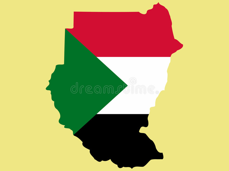映射苏丹 皇族释放例证