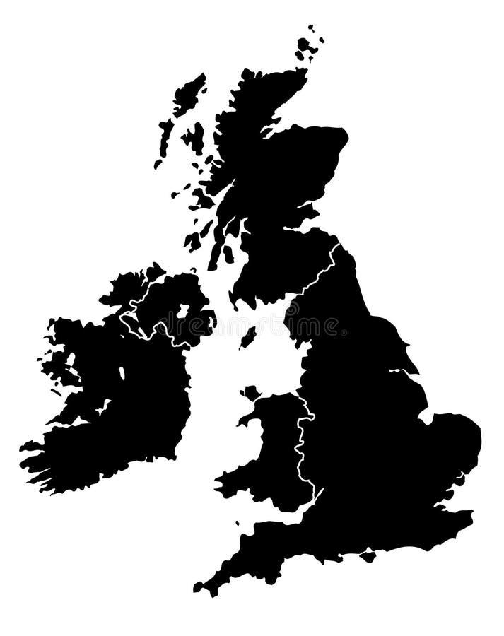映射英国 库存例证