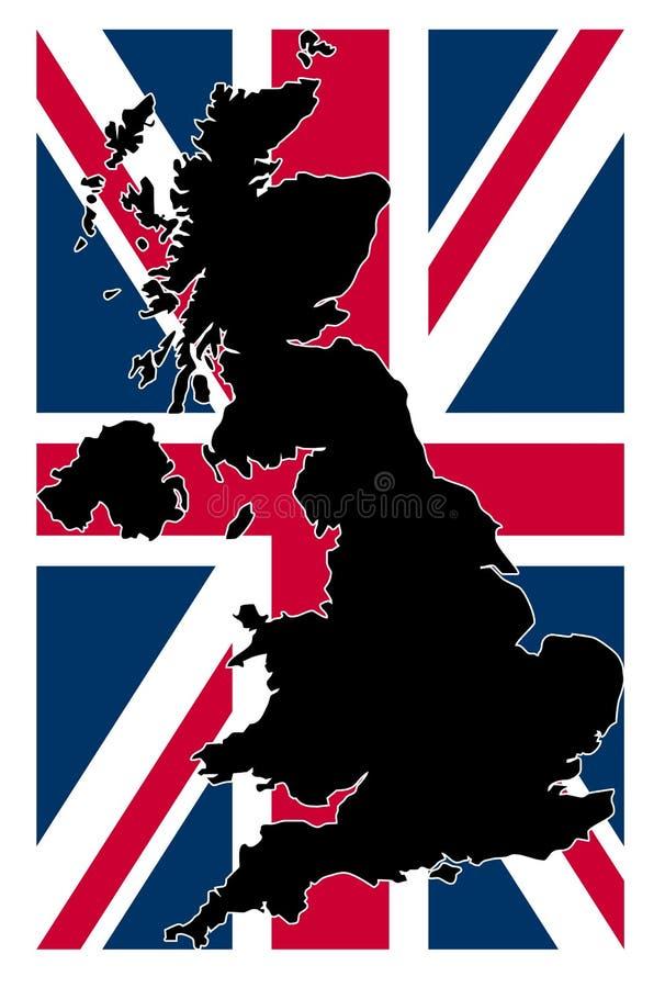 映射英国 向量例证