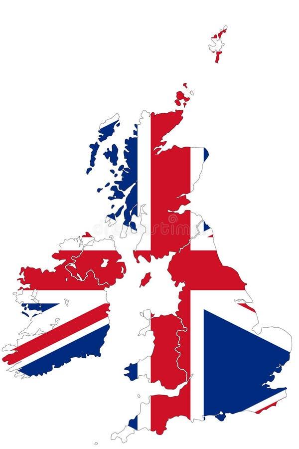 映射英国 免版税库存照片
