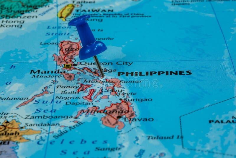 映射菲律宾 免版税库存图片