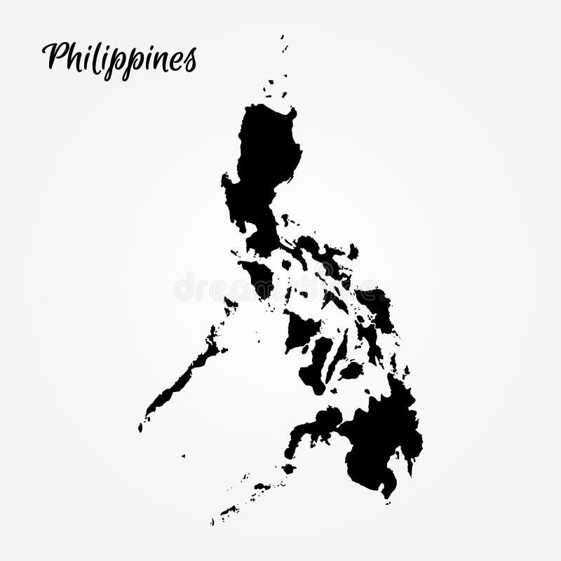 映射菲律宾 库存例证