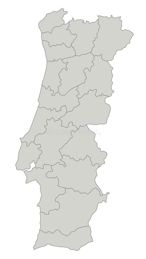 映射葡萄牙 库存例证