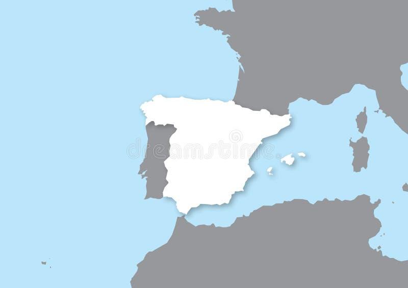 映射西班牙 库存例证