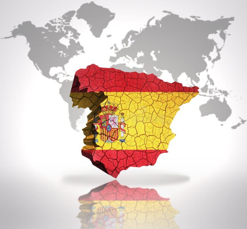 映射西班牙 向量例证