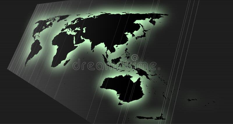 映射透视图世界 向量例证