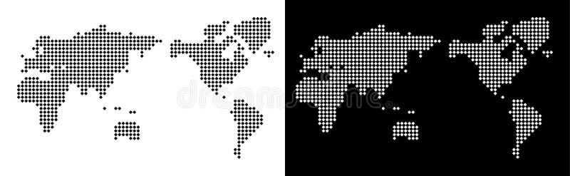 映象点世界地图 库存例证