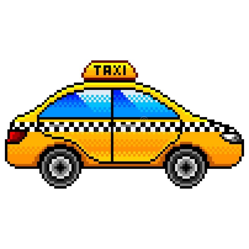 映象点出租汽车汽车被隔绝的传染媒介 库存例证