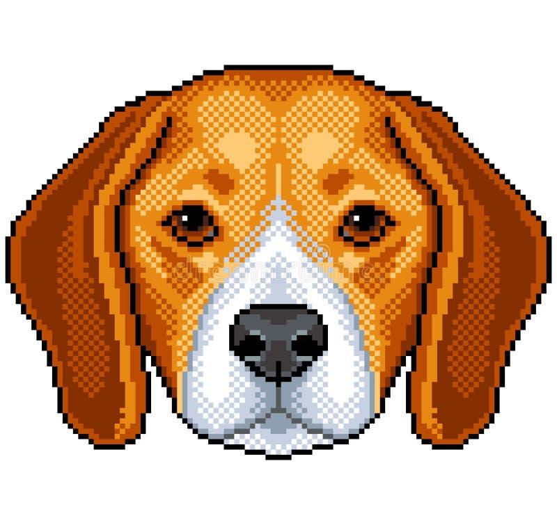 映象点小猎犬狗画象被隔绝的传染媒介 库存例证