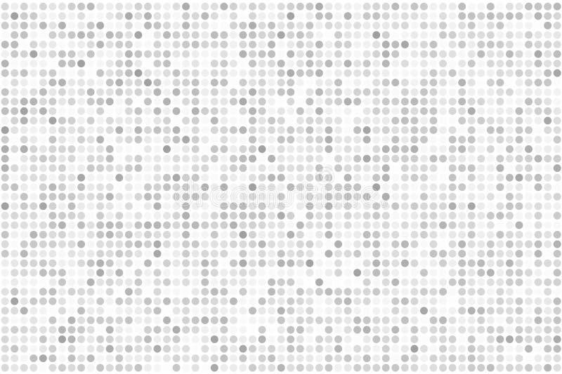 映象点数字式梯度背景 抽象浅灰色的技术样式 与圈子,小点的被加点的背景,指向小规模 皇族释放例证