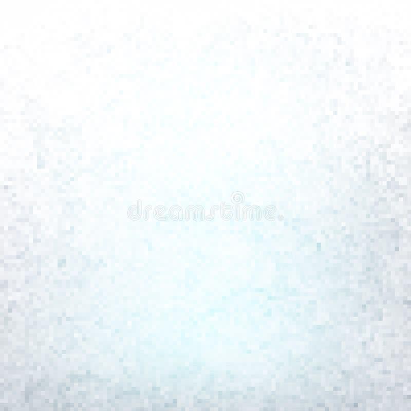 映象点构造的最小的白色浅兰的背景 向量例证