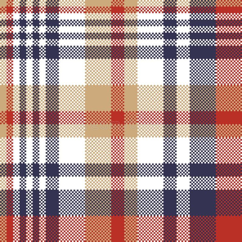 映象点格子花呢披肩纺织品格子呢无缝的样式 向量例证