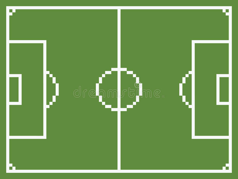 映象点艺术样式橄榄球运动场足球 向量例证