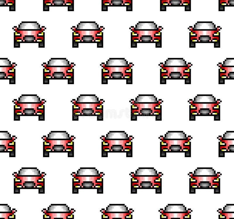 映象点艺术样式汽车无缝的样式,五颜六色的传染媒介illustrati 向量例证