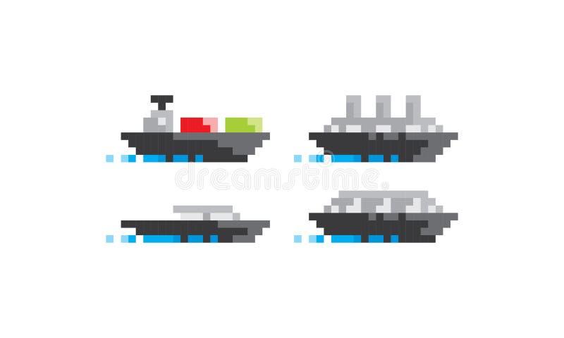 映象点艺术船商标象传染媒介 库存例证