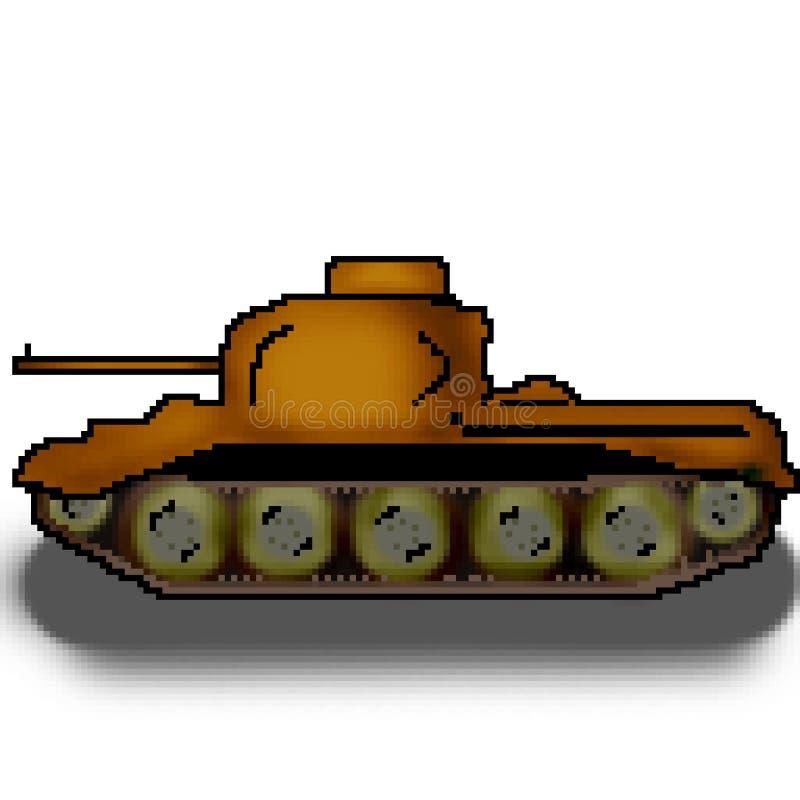 映象点8位拉长的军事多彩多姿的坦克 向量例证