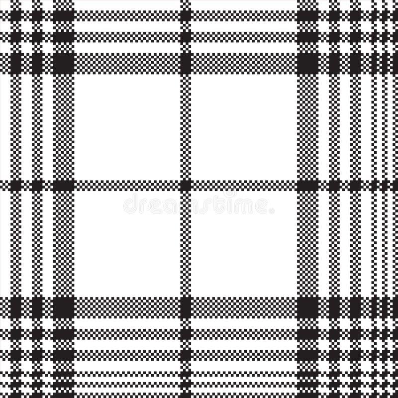 映象点黑白检查格子花呢披肩无缝的样式 向量例证