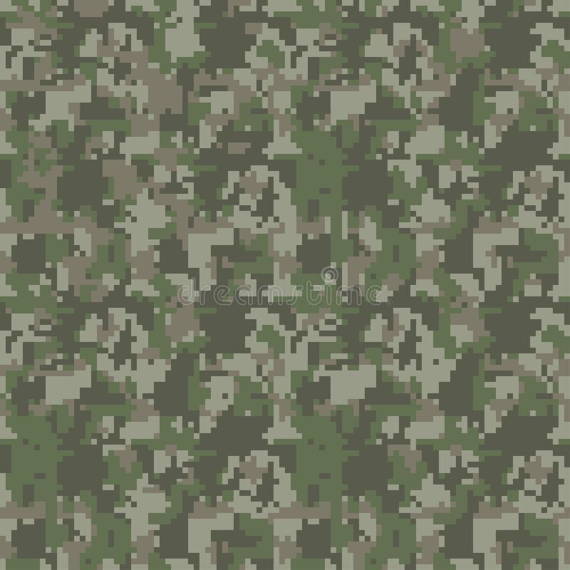 映象点camo无缝的样式 绿色,森林,密林,都市,褐色伪装 向量例证