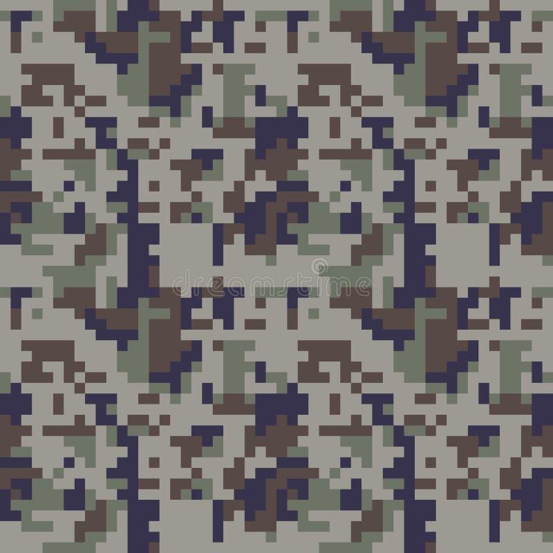 映象点camo无缝的样式 蓝色伪装 向量例证