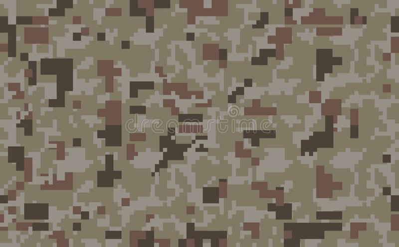 映象点camo背景 无缝伪装的模式 军事纹理 沙漠棕色颜色 皇族释放例证